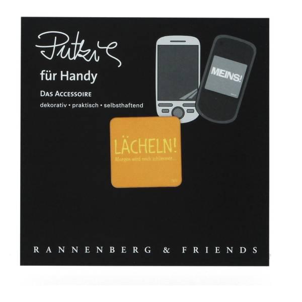 """Handy Putzi 3 x 3 """"Lächeln"""" Putztuch fürs Handy Displaytuch"""