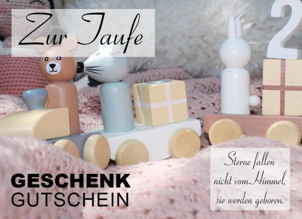 """Gutschein Motiv """"Zur Taufe"""" bei 2-flowerpower.com 50 Euro"""