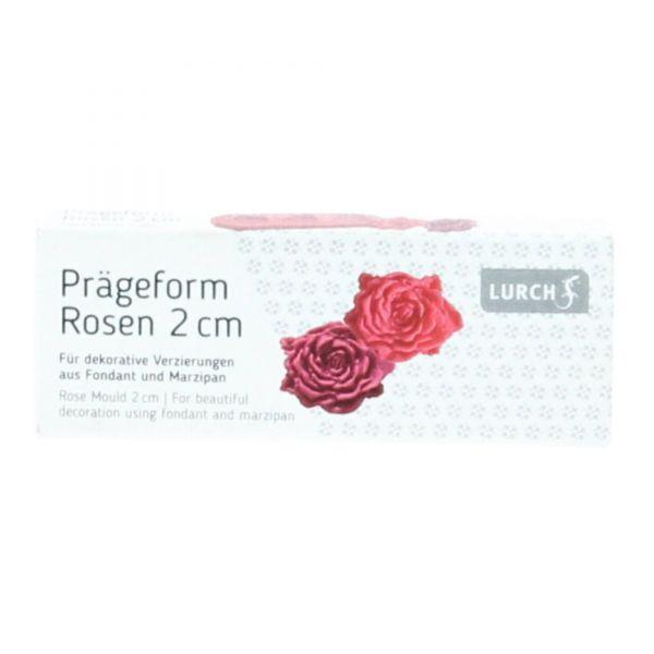 Lurch FlexiForm Prägeform Rosen klein 2 cm Silikon pink Front