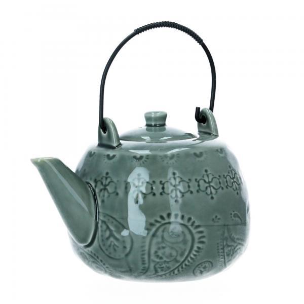 Bloomingville Teekanne Kanne 1L grün Steingut Produktansicht
