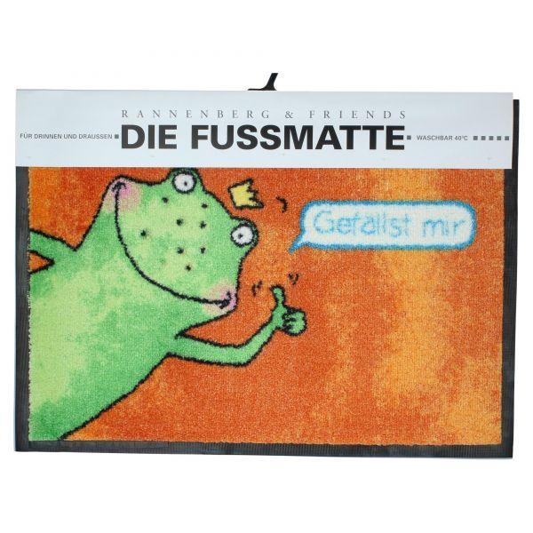 """Rannenberg & Friends """"Gefällst mir"""" Fußmatte Fußabtreter 50x70cm OVP & NEU Vorderseite"""