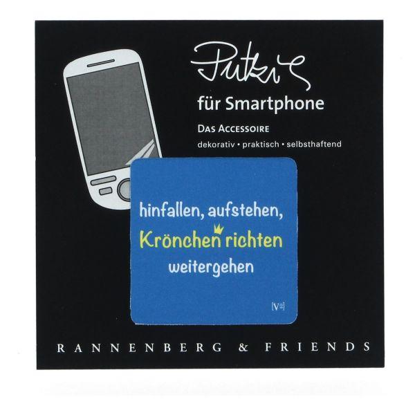 """Handy Putzi """"Krönchen richten"""" 5 x 5 cm Displaytuch PDA tablet Smartphone"""