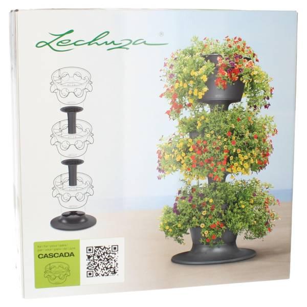 Lechuza Erweiterungsset 3er Turm Cascada Color Schiefergrau Pflanzturm Vorderansicht