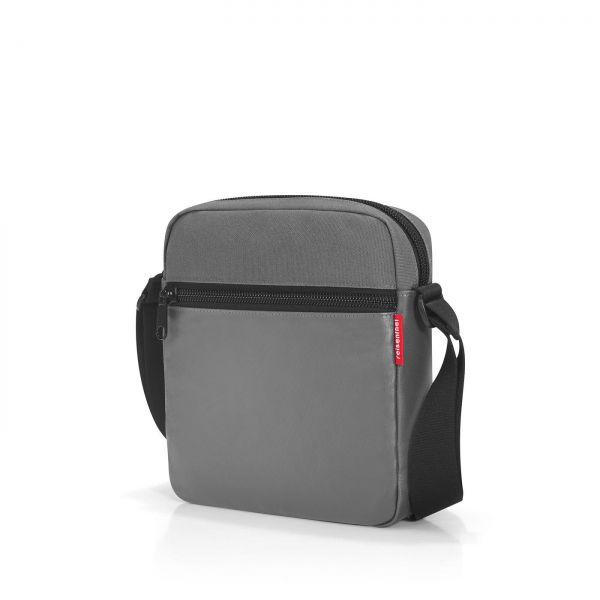 Schultertasche reisenthel crossbag canvas grey crossbody Produktansicht
