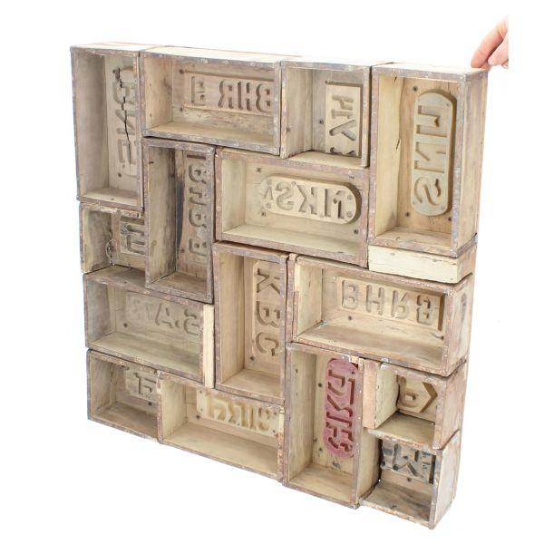 Dijk Natural Collection Ziegelform-Regal Holzregal rechteckig Produktansicht