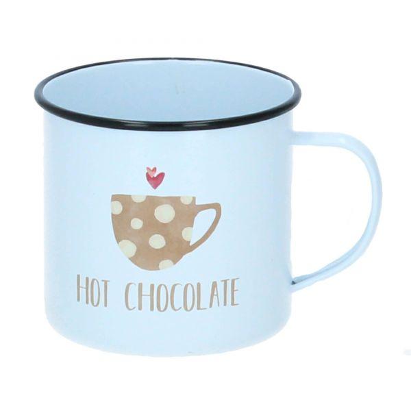 ppd Tasse Becher Metallbecher hot chocolate 400 ml weiß Produktbild