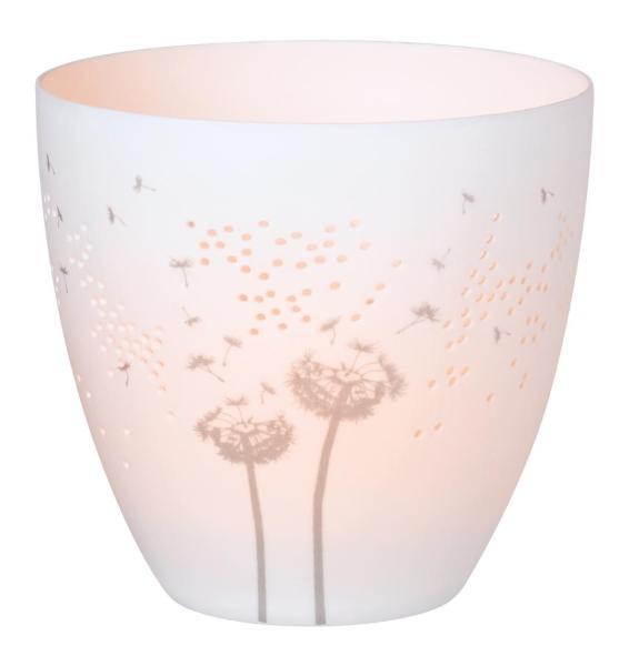 Teelichthalter Pusteblume Poesielicht Porzellan räder Herstellerbild