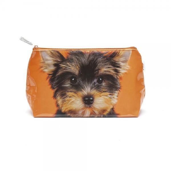 "Jellycat Kulturtasche ""Yorkie on Orange"" Schminktasche Washbag Reise Kosmetik NEU"