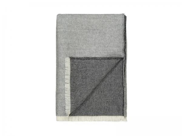 Elvang Überwurf Tagesdecke 130x200 cm blau Alpaka Wolle weiß grau Produktbild