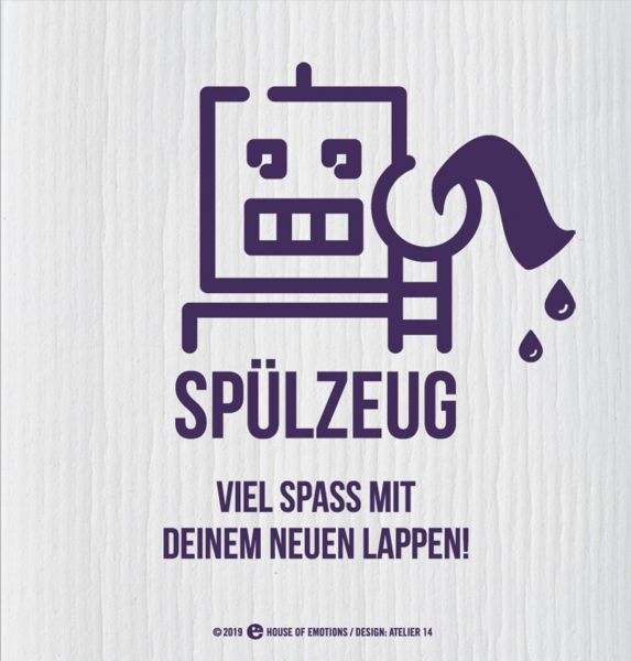 House of Emotions Spüllappen Putzlappen Spültuch Spülzeug Produktansicht