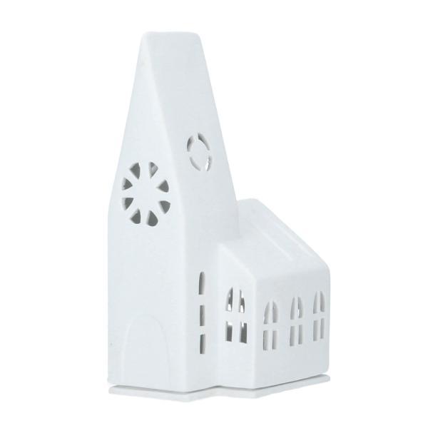 Lichthaus Kirche Zuhause Porzellan für Teelichter räder Perspektive
