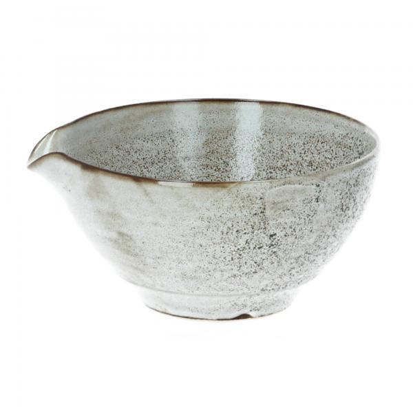 Schale mit Ausgießer Thea Steingut D 16,5 cm beige Bloomingville Produktbild