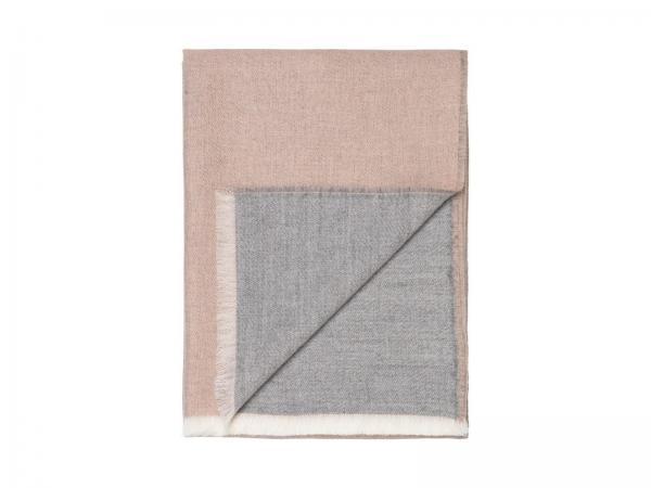 Elvang Überwurf Tagesdecke 130x200 cm Alpaka Wolle weiß nude Produktbild