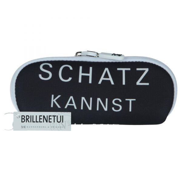 """Rannenberg Brillenetui """"Schatz kannst..."""" Glasses Case Brille Sonnenbrille Etui Tasche Vorderseite"""