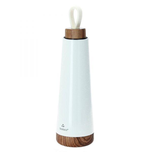 Chic Mic Edelstahlflasche bioloco loop weiß isoliert Thermosflasche Produktansicht