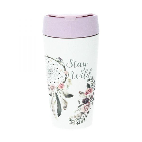 Chic Mic Bioloco Trinkbecher 420 ml PLA dreamcatcher rosa Produktbild