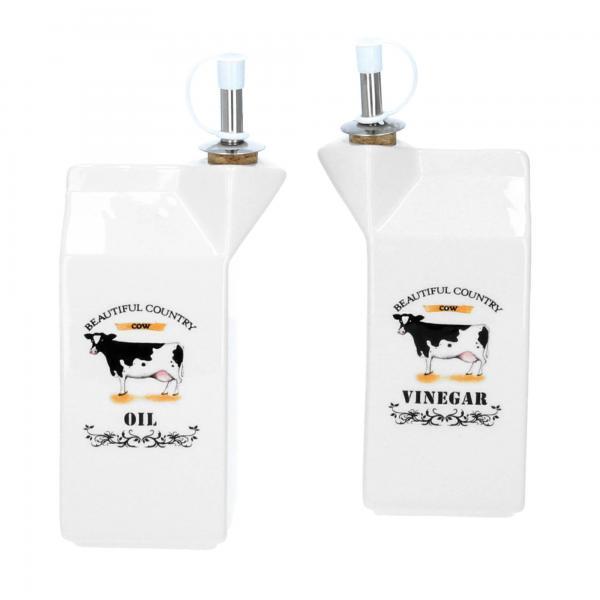 Hoff Interieur Essig Öl Spender Kuh 2tlg Front