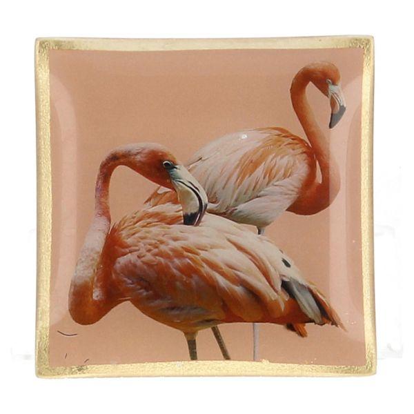 """Erdnussschale Schale Ablageschale Dekoteller """"Flamingos"""" von Villa 472448 Frontal"""