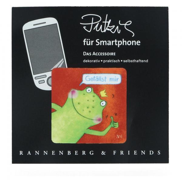 """Handy Putzi """"Gefällst mir"""" 5 x 5 Putztuch Displaytuch PDA tablet Smartphone"""