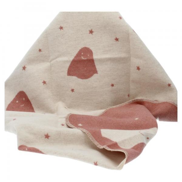 David Fussenegger Babydecke JUWEL Gespenster rouge Baumwolldecke Krabbeldecke Produktansicht