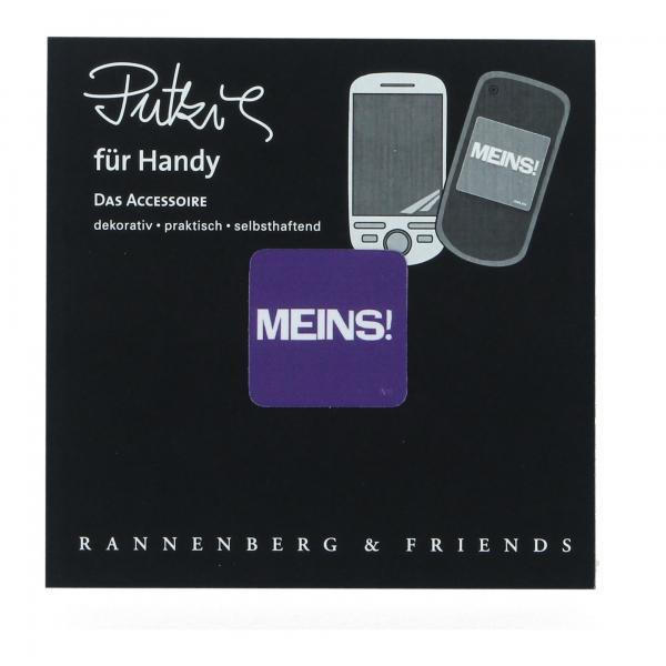 """Handy Putzi """"Meins"""" Putztuch fürs Handy Displaytuch 3 x 3 cm"""