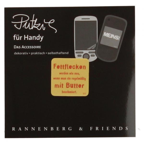 """Handy Putzi """"Fettflecken"""" Putztuch fürs Handy Displaytuch"""