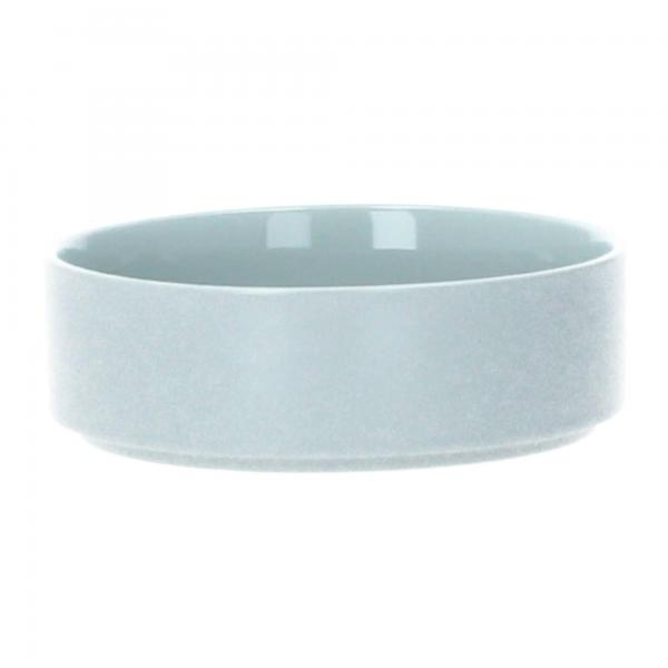 Blomus Pilar Schüssel Müslischüssel 14 cm Keramik mirage grey grau Front