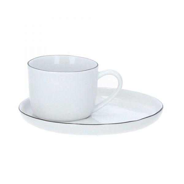 Broste Copenhagen Tasse mit Untere Salt weiß Produktbild