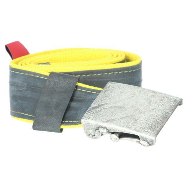 Stef Fauser Design Damen & Herren Gürtel Beltinger-gelb 110 x 4cm Produktansicht