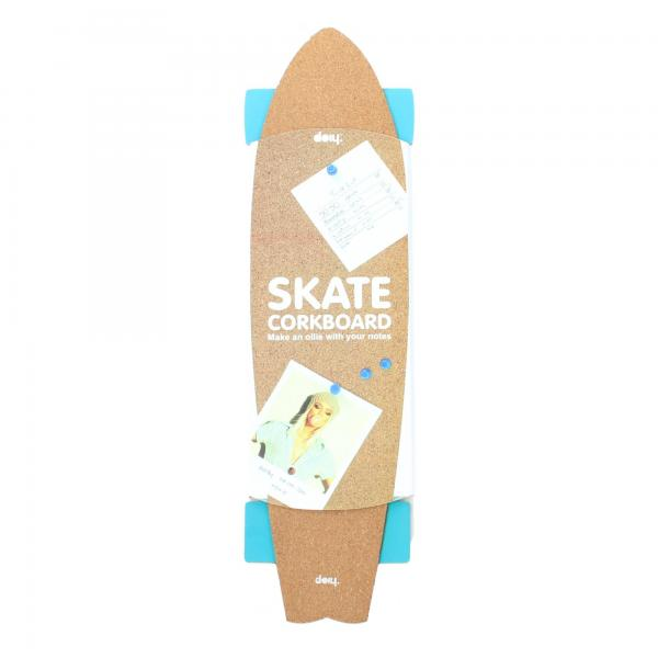 Doiy Pinnwand Kork Skateboard blau Verpackung