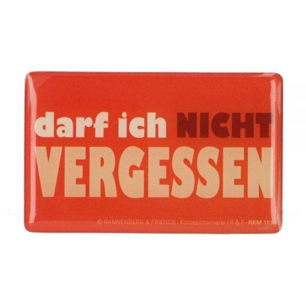 """Rannenberg Kühlschrankmagnet """"Darf ich nicht vergessen"""" Magnet Produktansicht"""