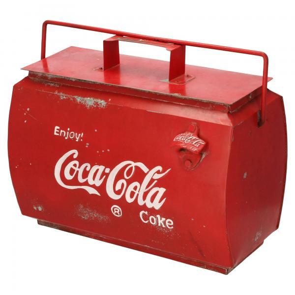 Coca Cola Kühltasche Nostalgie Used Look Kühlbox Kühltruhe Produktansicht