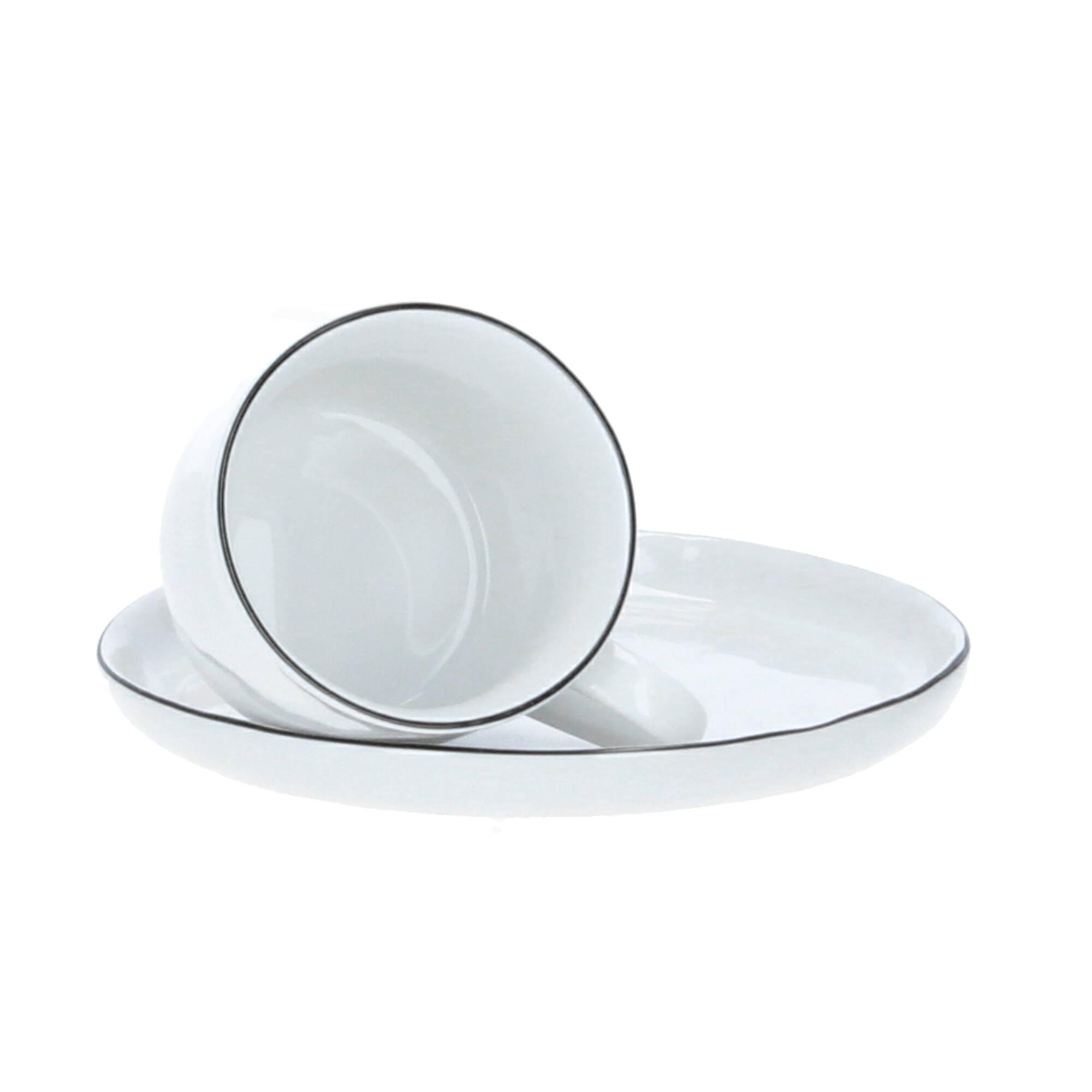 Broste Copenhagen Tasse mit Untertasse Salt Porzellan 20 ml weiß