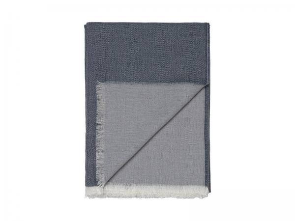 Elvang Überwurf Tagesdecke 130x200 cm Alpaka Wolle weiß blau Produktbild