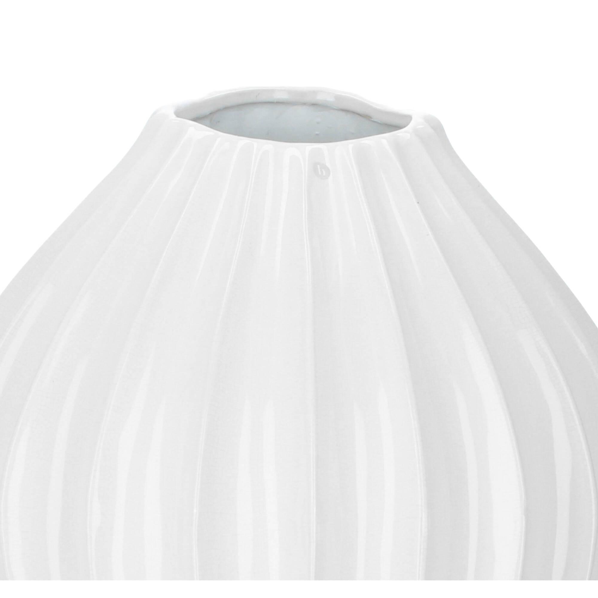 Broste Copenhagen Vase Wide XL Ivory 20cm Elfenbein