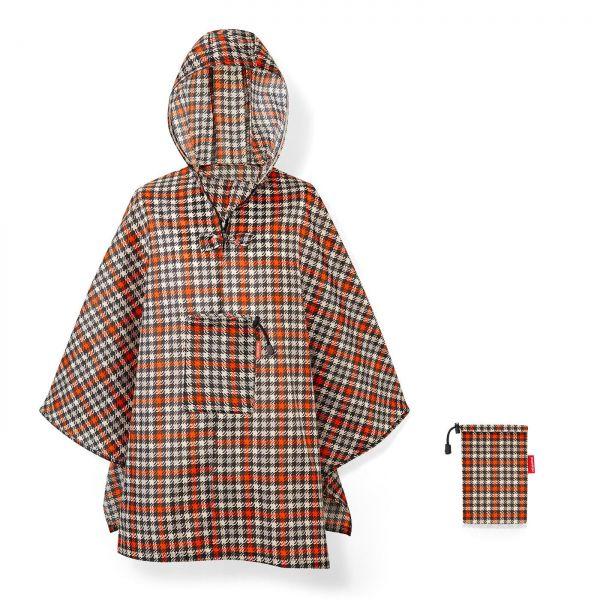 reisenthel mini maxi poncho glencheck red Regenponcho Cape Produktbild