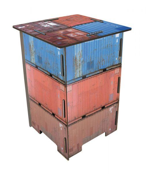"""Werkhaus Photohocker """"Container"""" Sitzhocker (SH8004) Beistelltisch Tisch Hocker"""