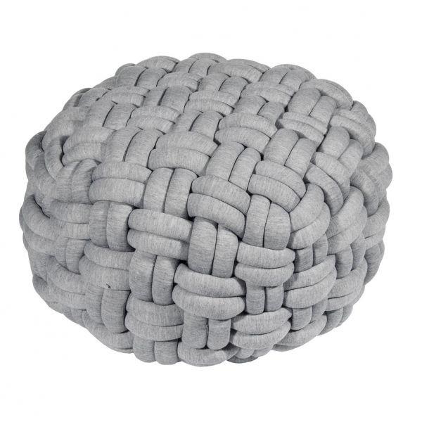 pad light grey grau LØKKEN Pouf Puff Sitzschemel groß 69cm geflochten Produktbild