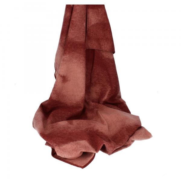 David Fussenegger Baumwolldecke mit Zierstich Sylt Aquarell rouge Kuscheldecke Produktansicht