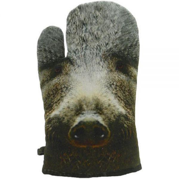 MARS & MORE Topfhandschuh Wildschwein Topflappen Keiler Bache Küchenzubehör Ofenhandschuh