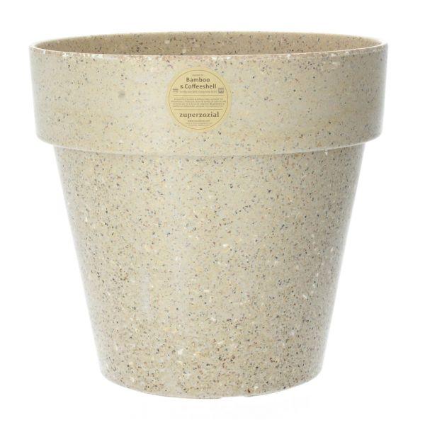 Zuperzozial Pflanztopf Bambus Kaffeeschale 36 cm erdnussbraun Produktbild