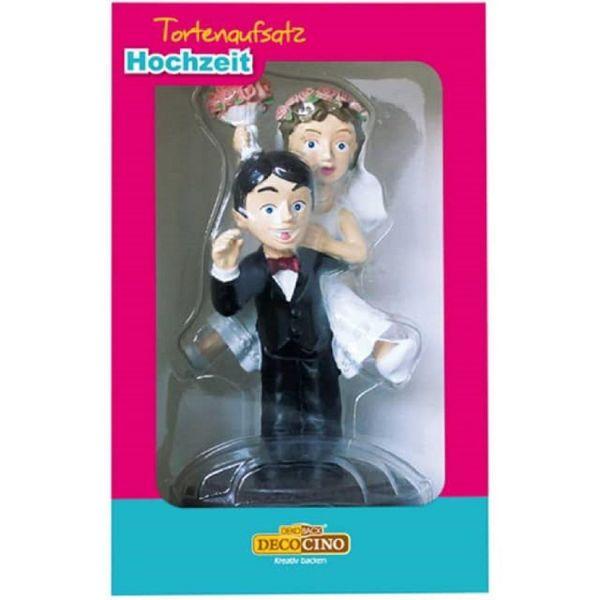 DekoBack 16119 Tortenfigur Brautpaar lustig Aufsprung Tortenaufsatz Hochzeit