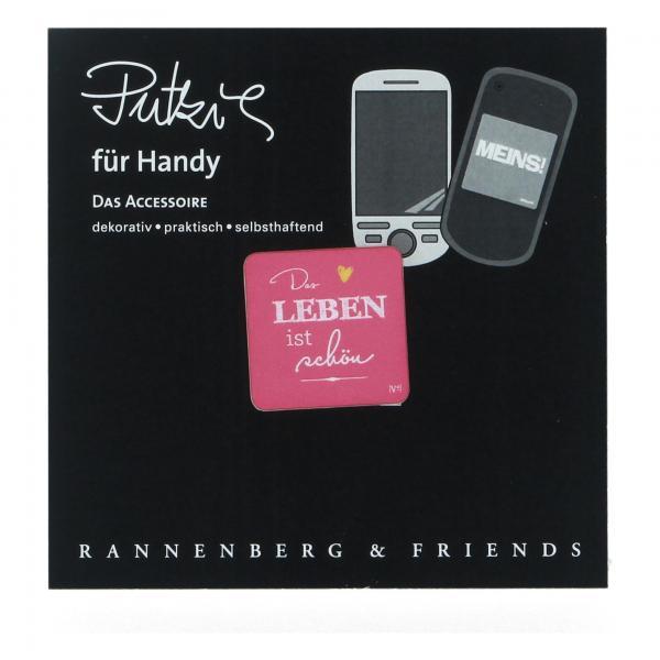 Rannenberg Handy Putzi DAS LEBEN IST SCHÖN Putztuch Displaytuch Computer RHP097