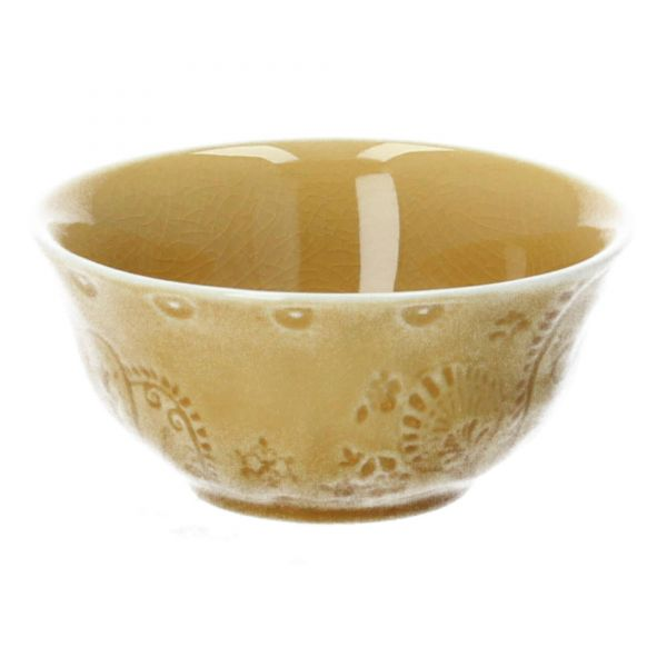Schale Rani Steingut D 13 cm gelb Bloomingville Produktbild