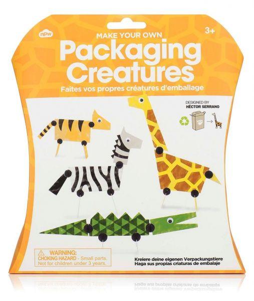 NPW Müslischachtel Verpackungskreaturen Kreaturen Packaging creatures Basteln