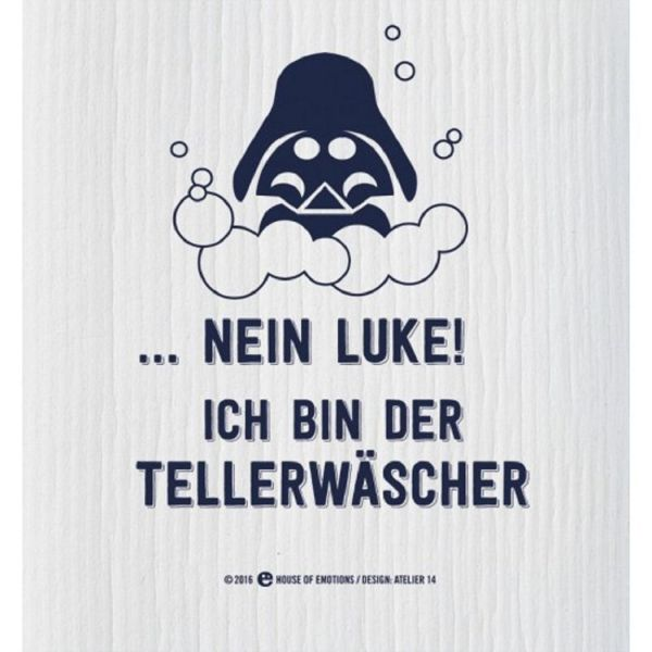 House of Emotions Spüllappen Putzlappen Spültuch Nein Luke Produktansicht