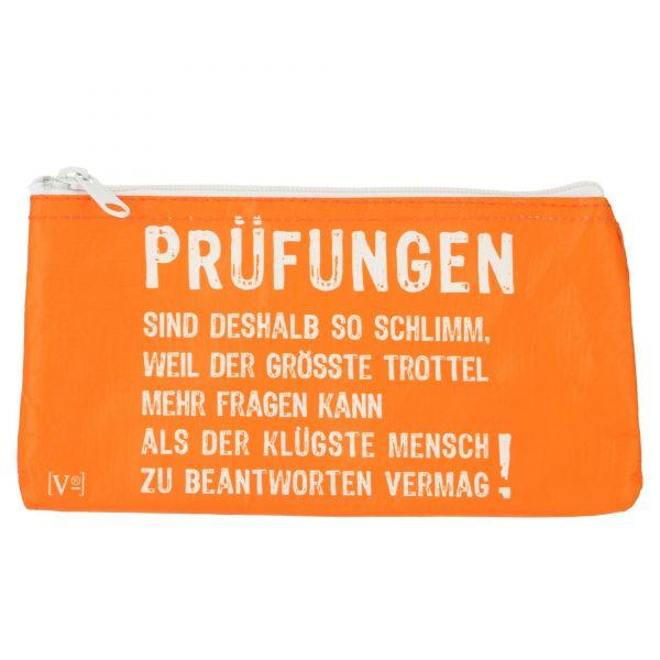 """Knautschi Tasche """"Prüfungen"""" Rannenberg Kosmetiktasche Etuitasche Schlampermäppchen Produktansicht"""