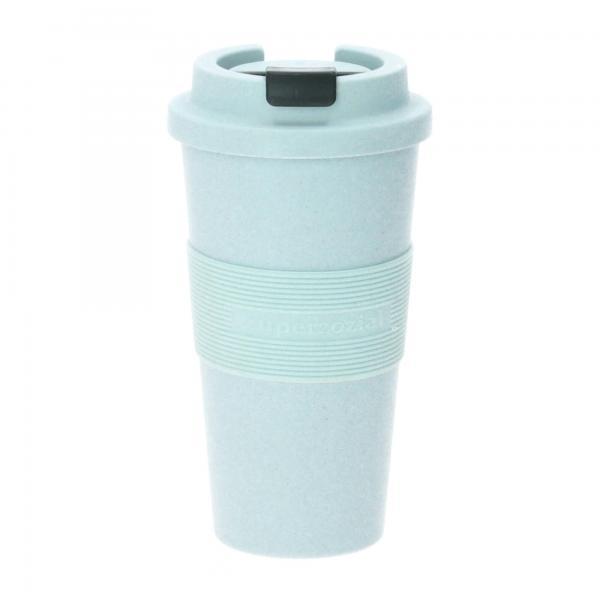 Zuperzozial Becher Timeout biologisch abbaubar 480 ml puder blau Produktbild