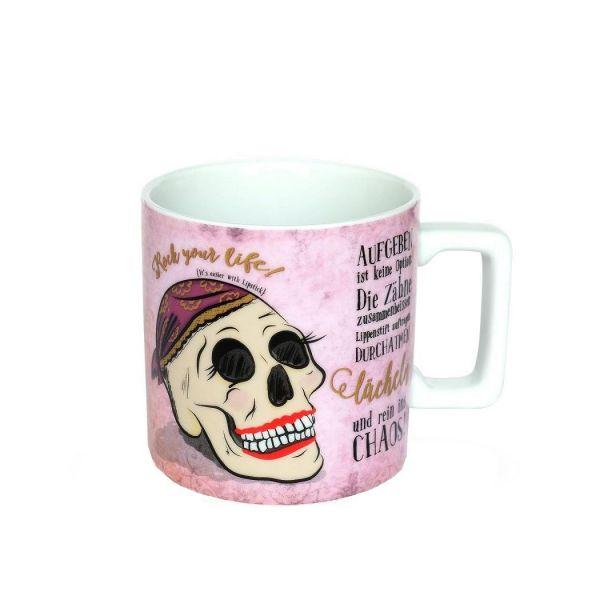 Henkelbecher Aufgeben ist keine Option... 45025 SUGAR Skulls 400ml Porzellan Becher Tasse Kaffeebecher