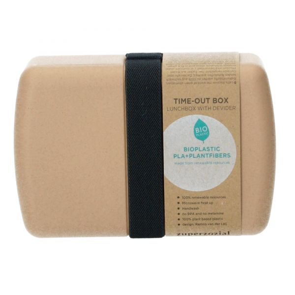 Zuperzozial Bento Box Brotdose Timeout 18,5x12,5x6,2 cm toffeebraun Produktbild